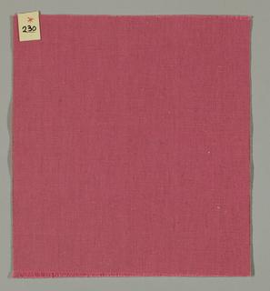 Warp-faced plain weave in pink. Number 230.