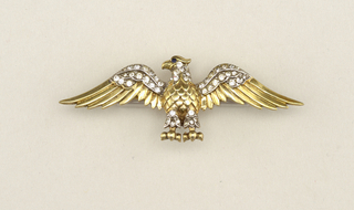 Brooch in form of an eagle.