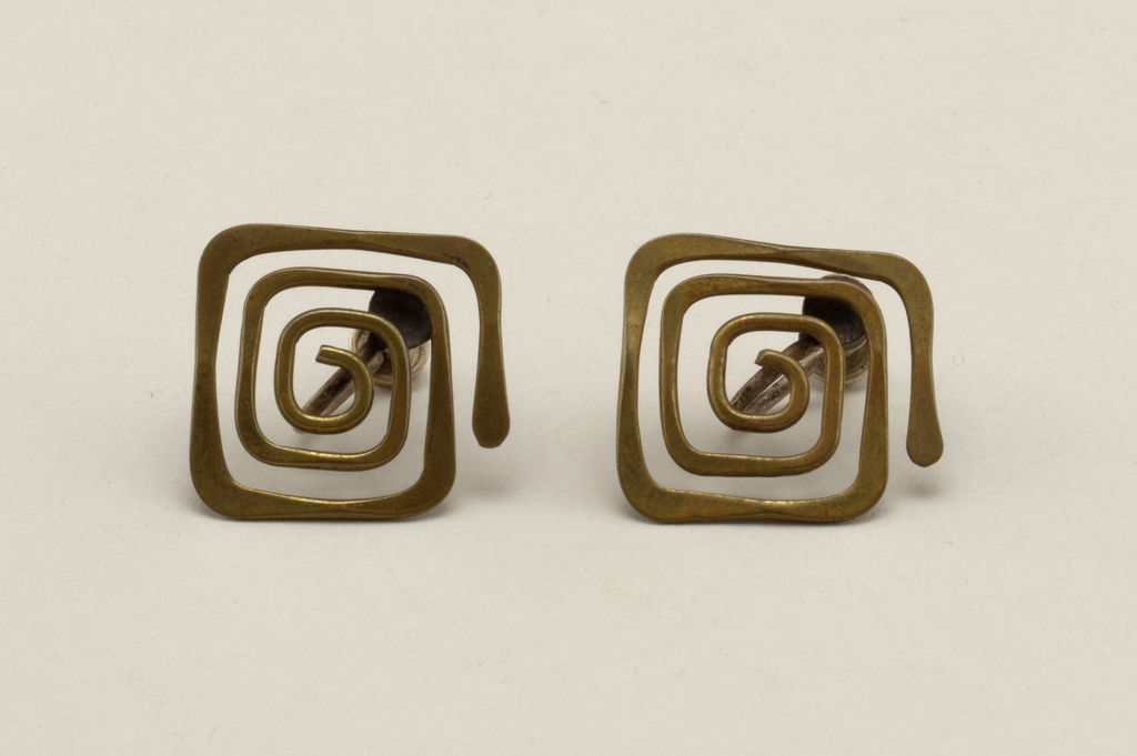 Squared spiral Earring, 1950–59