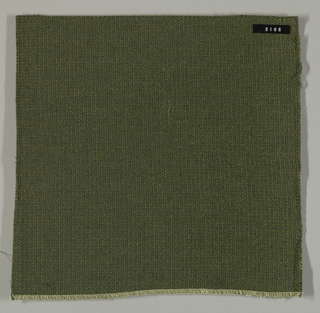 Coarse plain weave in olive green.