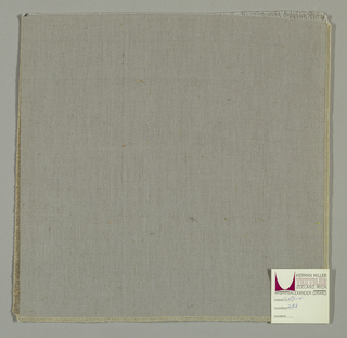 Warp-faced plain weave in pale grey. Number 233.