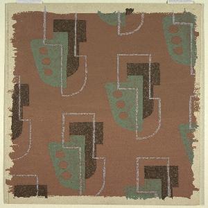 Drawing, Textile Design: Drop-Motif Pattern