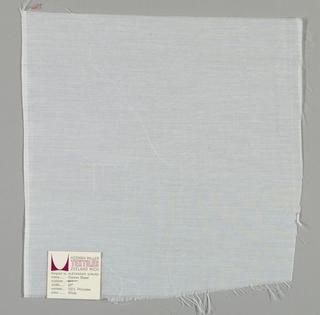 Tightly-woven sheer white plain weave.