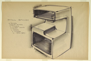 Drawing, Design for Small Galley