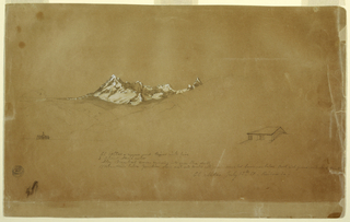 Drawing, Mount Altar, Ecuador, sho, July 13, 1857