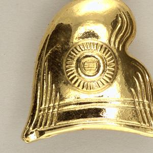Pair of earrings in the shapes of Phrygian caps.