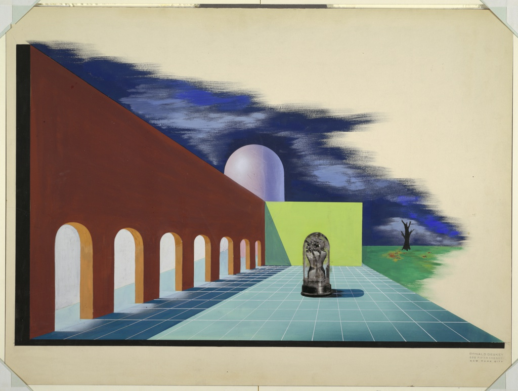 Drawing, Design for Cosmetics Building, New York World's Fair 1939–40
