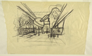 "Drawing, Design for Gilette Exhibit, ""Through the Medicine Chest,"" New York World's Fair 1939–40"