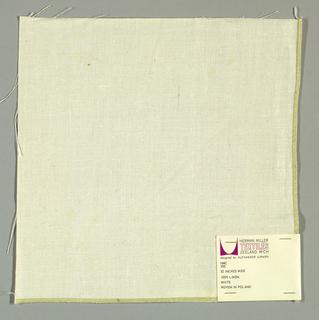 White plain weave.