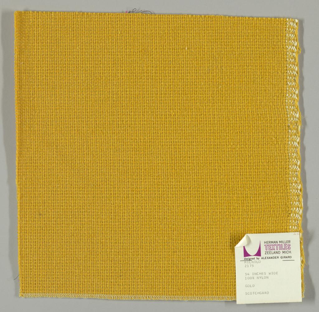 Coarse plain weave in gold.