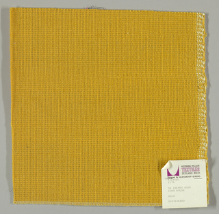 Coarse plain weave in gold.