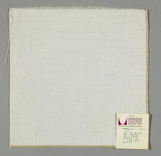 Plain weave in white.