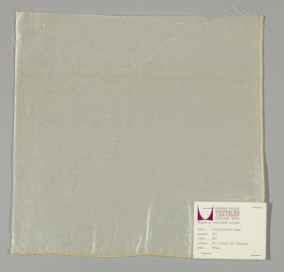 Tightly-woven sheer white plain weave. Number 412.