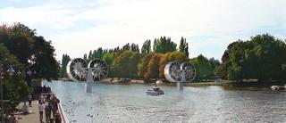 Large Span Rolling Bridge (not Yet Realized), 2009