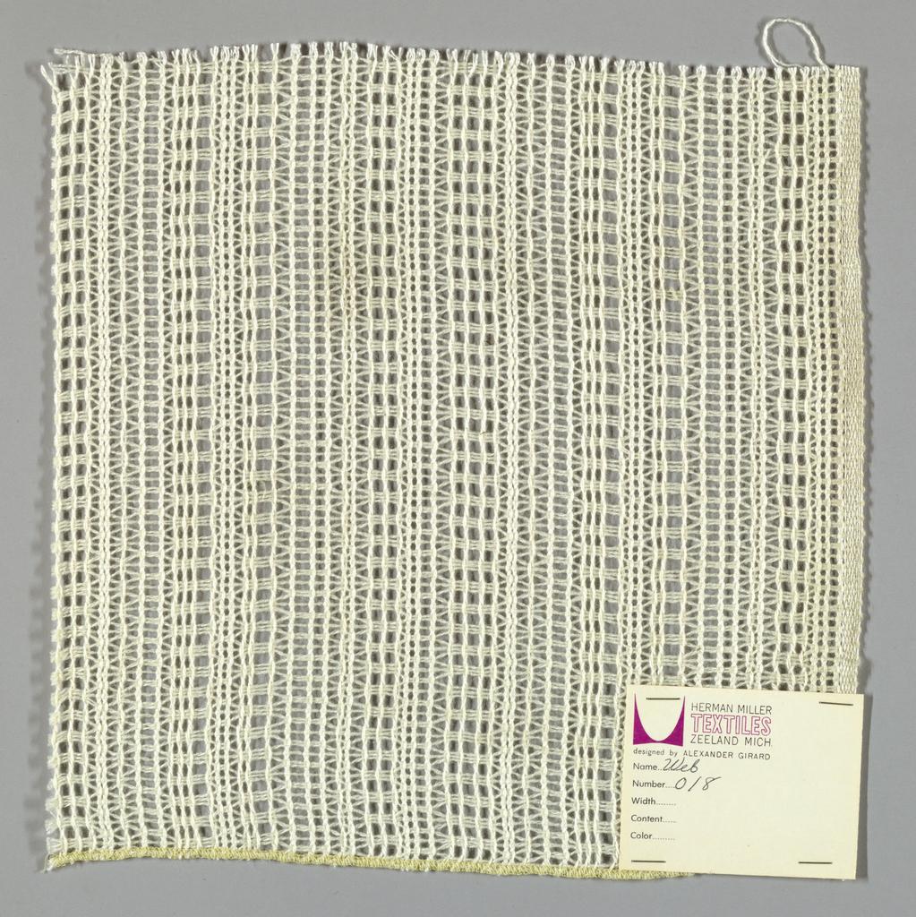 Gauze weave in white.