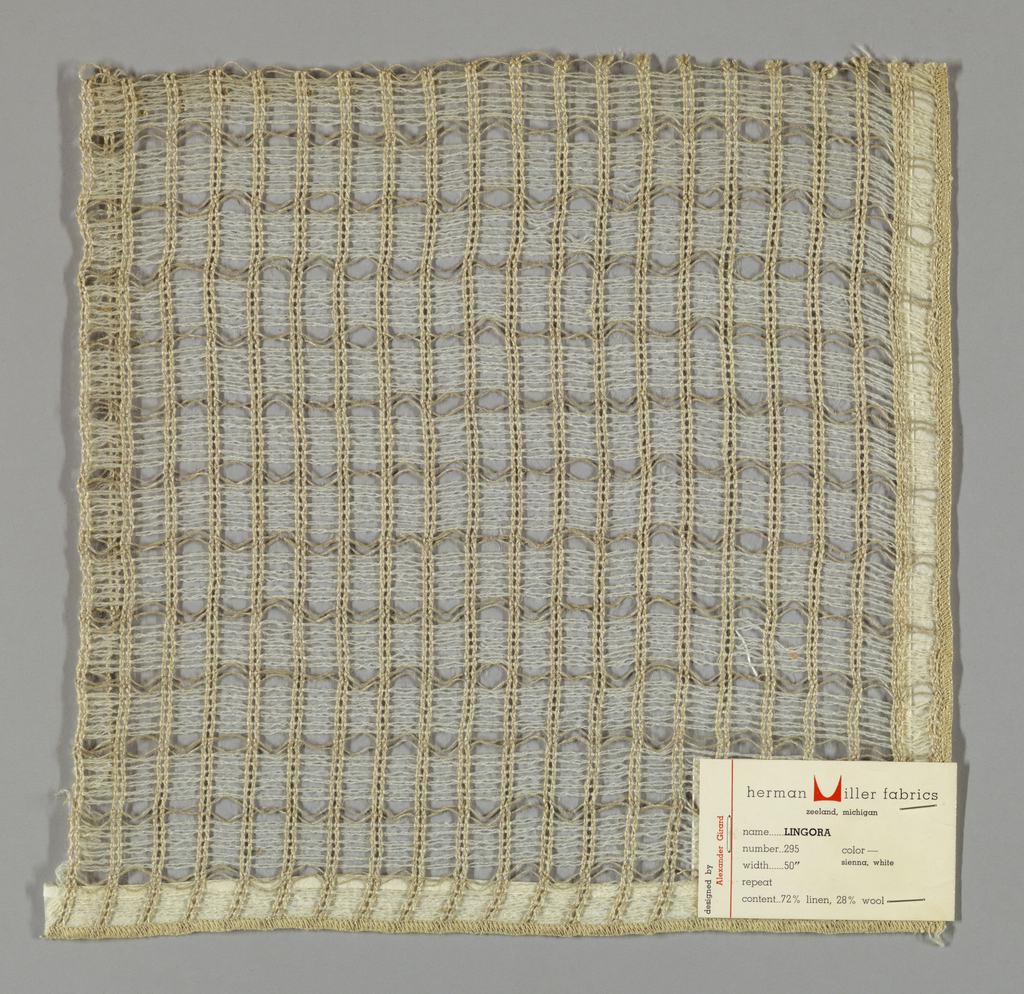 Gauze weave in off-white and light brown. Number 295.