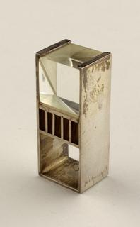 Square silver band, plexi cube