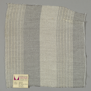Gauze weave in white and grey. Number 373.