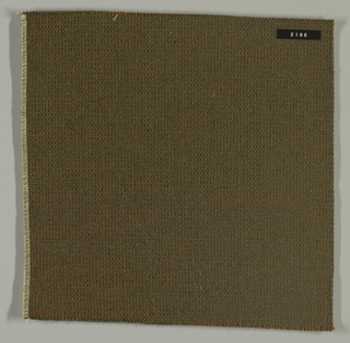 Plain weave in olive green and brown.