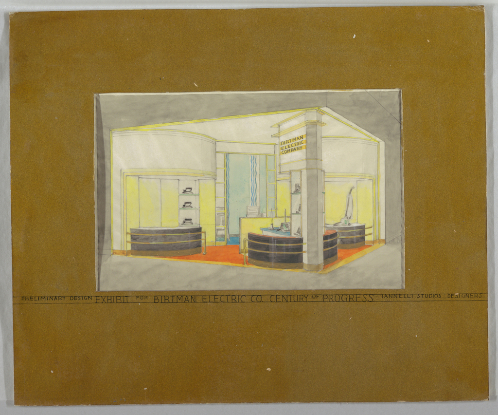 Drawing, Preliminary Design / Exhibit for Birtman Electric Co. Century of Progress Exhibition, Chicago 1933, 1933