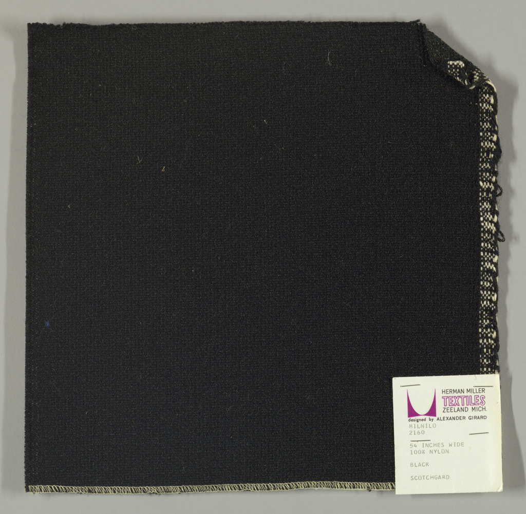Coarse plain weave in black.