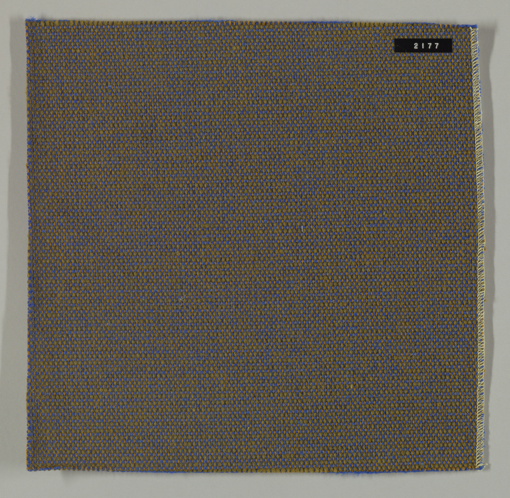 Coarse plain weave in blue and brown.