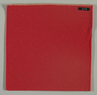 Coarse plain weave in orange.