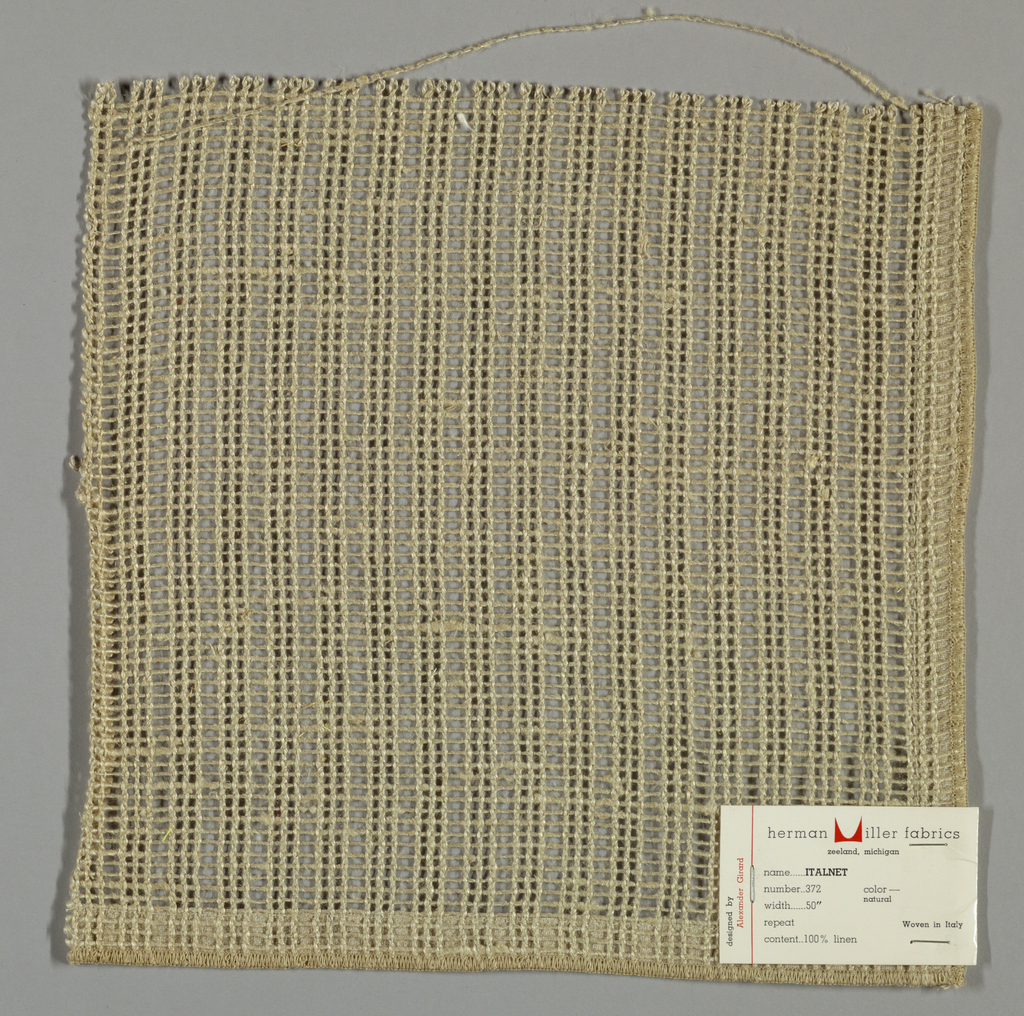 Gauze weave in light brown. Number 372.