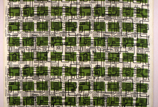 Green rectangles and black lines printed on off-white.