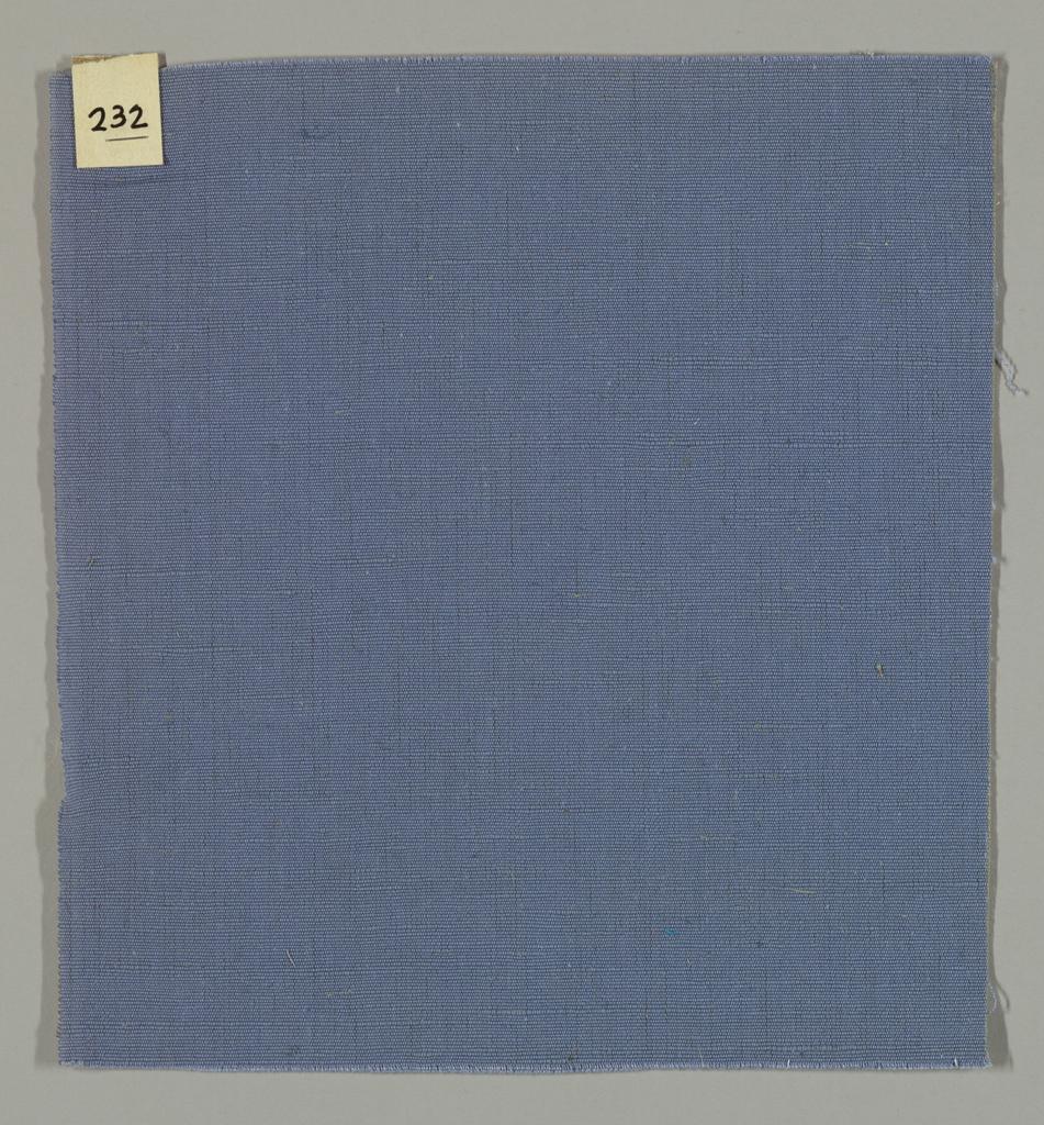 Warp-faced plain weave in blue. Number 232.
