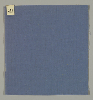 Warp-faced plain weave in blue. Number 232.