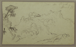 Drawing, Near San Miguel, Ecuador; Verso: Unfinished Mountain Sketch, June 2, 1857