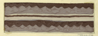 Drawing, Textile Design: Vesuv (Vesuvius)