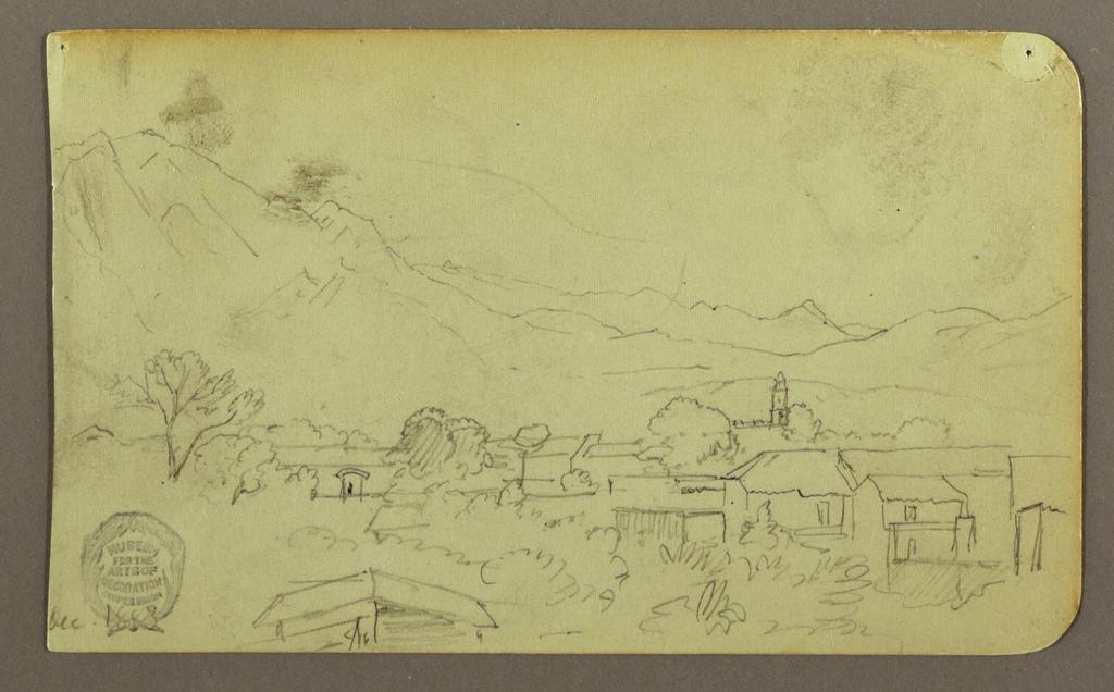 Drawing, Village; Verso:Hilltop, December 1883