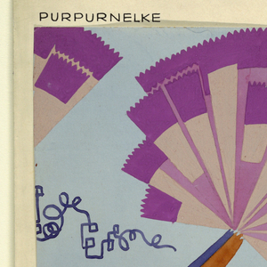 Drawing, Textile Design: Purpurnelke (Purple Pink)