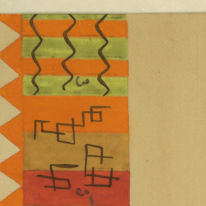 Drawing, Textile Design: Double-Fox