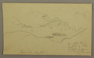 Drawing, Sketch of Sky with Color Notes, Jamaica, August 1865
