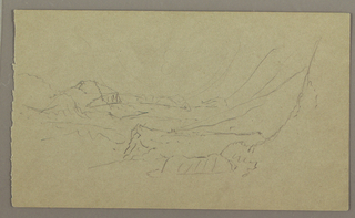 Drawing, Sky; Verso: Landscape, May–August 1865