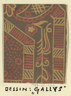 Drawing, Textile Design: Gallus