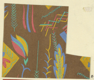 Drawing, Textile Design: Staniol (Tinfoil)