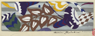 Drawing, Textile Design: Harlekin (Harlequin)