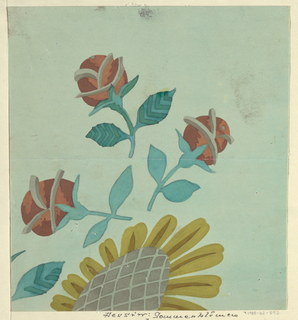 Drawing, Textile Design: Sommerblume (Summer Flower)