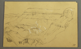Verso: Side of a canyon