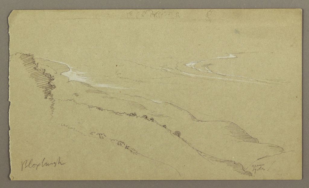 Drawing, Sea and Shore, Bloxburgh, Jamaica, August 1865