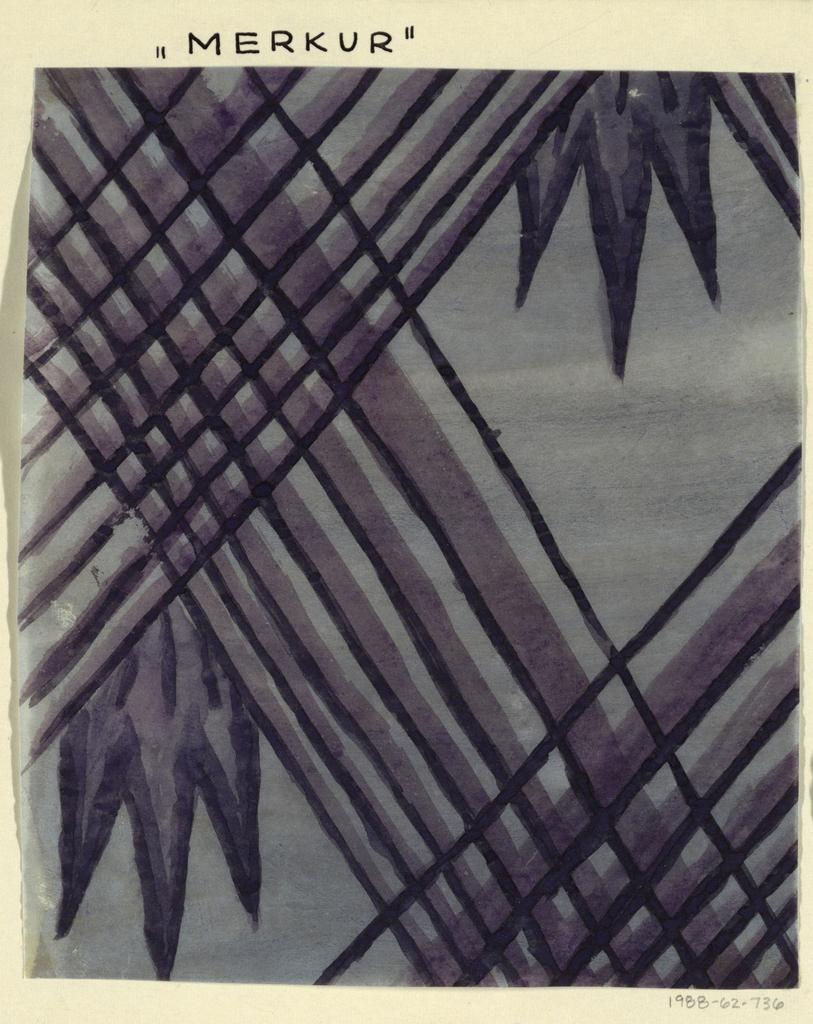 Black weave motif over deep purple leaves on light purple ground.