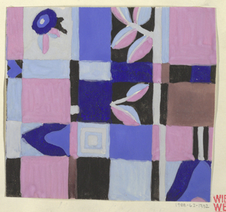 Drawing, Mandelkrahe: Pink and Blue