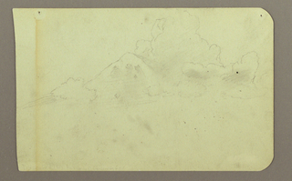 Drawing, Landscape with Clouds; Verso: Mountain, 1883