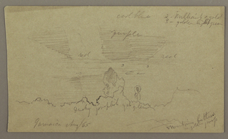 Drawing, Landscape; Verso: Sky, August 1865