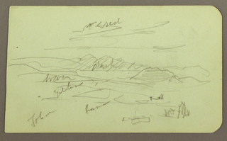 Drawing, Landscape, Toluca; Verso: Mountain, Church, 1883