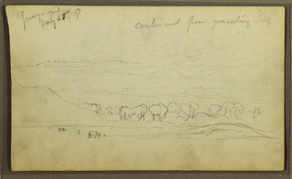 Drawing, Landscape, Guayaquil, Ecuador, May 21, 1857